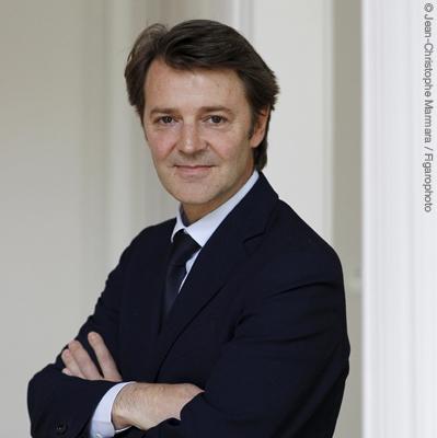 Portrait de FranÁois Baroin, sÈnateur (Les RÈpublicains), maire de la ville de Troyes et prÈsident de l'Association des Maires de France (AMF), ici posant, ‡ l'occasion d'un entretien avec Le Figaro, ‡ Paris.
